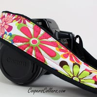 Mod dSLR Camera Strap, Flower Power, SLR