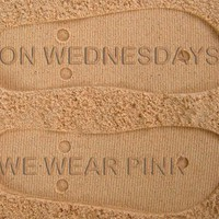On Wednesdays We Wear Pink Custom Sand Imprint Flip Flops