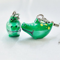Cute croc earrings by MeredithsLittleShop on Etsy