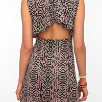 Urban Renewal Knit Drape Back Dress