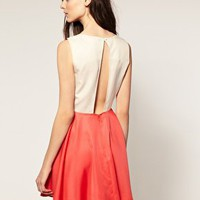 Vero Moda | Vero Moda Contrast Open Back Skater Dress at ASOS