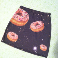 Galaxy donuts bodycon skirt