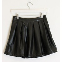 Skater Leather Skirt