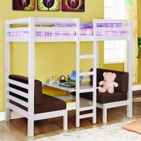 Twin Convertible Loft Bed: Home &amp; Kitchen