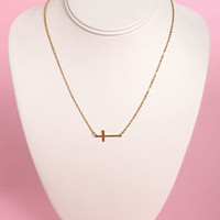 Crossed and Found Gold Cross Necklace