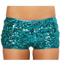 Shimmering Sequin Shorts : Hotpant with Sequins Rave Shorts