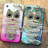 2 color choiceCute Owl iphone caseowl on the branch by OneLoveLi
