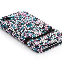 Amazon.com: iSee Case TM Luxury Colorful Crystal Bling Rhinestone Slider Full Cover Case for AT&T Verizon Sprint iPhone 4 4S(4-Elite Crystal Colorful)): Cell Phones & Accessories