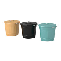 KNODD Bin with lid - IKEA