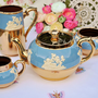 Gibsons Vintage Jasper Ware Style and Gold Teapot Set to buy