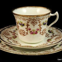 Antique Diamond China teacup, saucer and tea plate trio to buy