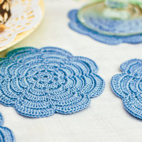 Coaster Set - Hostess Gift - Dusk Blue
