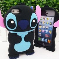Amazon.com: Authentic Black&Blue Lilo and Stitch 3D Soft Case Cover for Iphone 5(16G/32GB/64GB) Xmas Gift: Cell Phones & Accessories