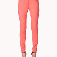 Colored Five-Pocket Skinny Jeans | FOREVER 21 - 2041383464