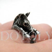 Miniature Zebra Ring Sizes in Silver 5 to 9 available | dotoly - Jewelry on ArtFire