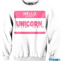 Unicorn Crewneck | fresh-tops.com