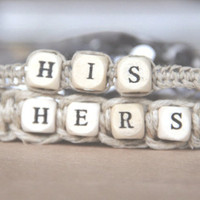 Sale Originally 29.99 HIS and Hers Bracelets Forever Love- hemp, friendship, his hers bracelet set organic anklet infinity unisex