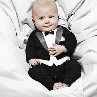 the tuxedo babygrow by carry me home | notonthehighstreet.com