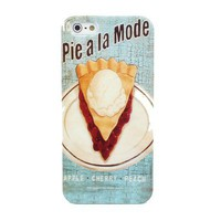 New Retro Blue Cherry Pie Food Design Hard Case Back Cover For Apple iPhone 5