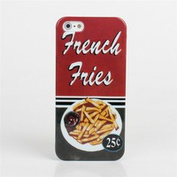 New Retro Tasty French Fries Food Design Hard Back Cover Case for iPhone 5 5G