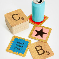 Scrabble Coaster Set | Scrabble Coasters | fredflare.com