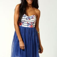 Laura Bandeau Net Skirt Dress