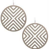 Rhodium Laser Cut Earrings