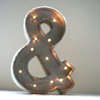 Vintage Marquee lights Ampersand Old Hollywood Custom Lighted Sign