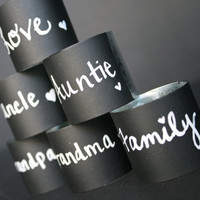 Reusalbe Chalkboard Napkin Ring 8 Blackboard by sierrametaldesign