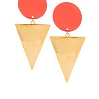 Spot Triangle Doorknocker Earrings
