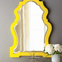 Yellow-Framed Mirror