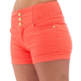 Curve Appeal Juniors High Waisted 5 Pocket Stretch Cotton Short Shorts