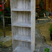 Wood Shelf Cabinet - Rustic - Shabby - Cottage Storage Shelves
