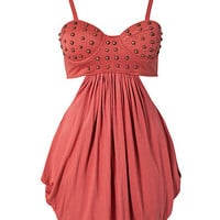 Studded Bustier Dress, House of Dereon