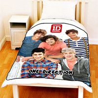 "Fleece Blanket ONE DIRECTION 1D Up All Night Bed Throw Fleece Blanket New Size 50"" x 60"""