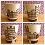 Downton Abbey hand-drawn mug