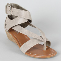 Soda Estito-S Strappy Thong Flat Sandal light gray