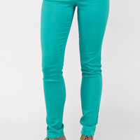 Bold Skinny Jeans in Sea Green :: tobi