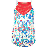 FULL TILT Crochet Trim Ethnic Womens Tank
