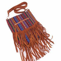 fringed boho handbag $34.50 in MULTITAN - Bags | GoJane.com