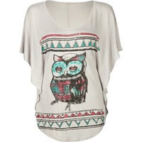 FULL TILT Owl Womens Top 