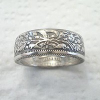 Coin Ring Swiss Helvetia Silver 2 Franc Place by SpiritualFlyer