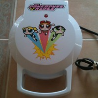 Salton The Power Puff Girls Electric Waffle Maker Iron Cartoon