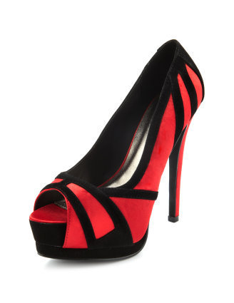 Satin Corset Peep-Toe Pump