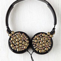 Zumreed  Large Studded Earphones at Free People Clothing Boutique