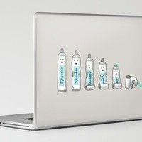 Life is like a tube of toothpaste Laptop & iPad Skin by Terry Fan | Society6