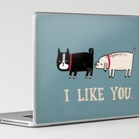 I Like You. Laptop & iPad Skin by Gemma Correll | Society6