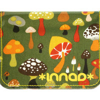Olive Green Orange Brown Retro Mushroom Cotton / Vinyl by innad