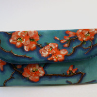 Flowering Quince Small Wallet Clutch by roxannaahlborn on Etsy