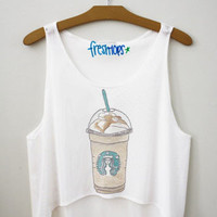 Carmel frappuccino Fresh-Tops Crop Top | fresh-tops.com